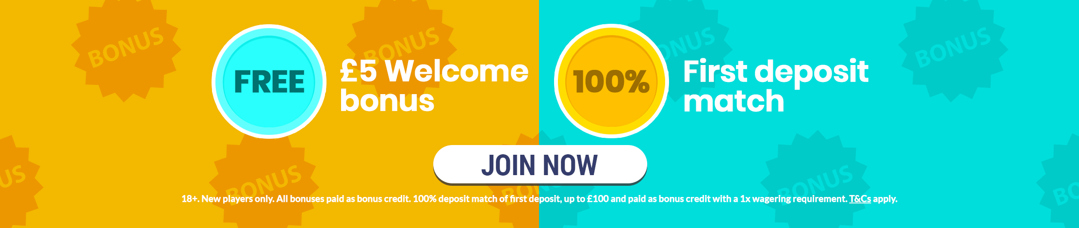 Free £5 welcome bonus and 100% First deposit match. Join Now