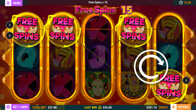 Juggling Jokers mobile slots game