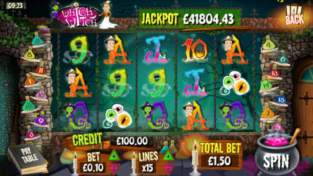 Main Reels in Which Witch mobile slots by mFortune