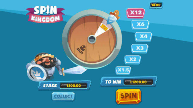 Spin Kingdom mobile slots by mFortune Gamble Feature screenshot